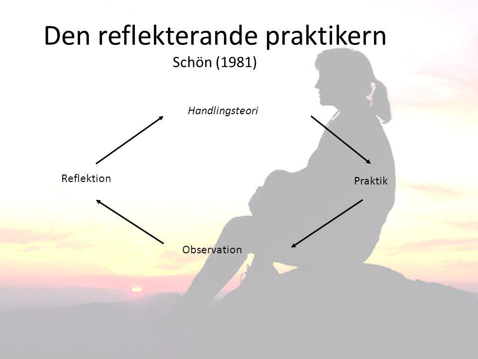 Den reflekterande praktikern Schön (1981)