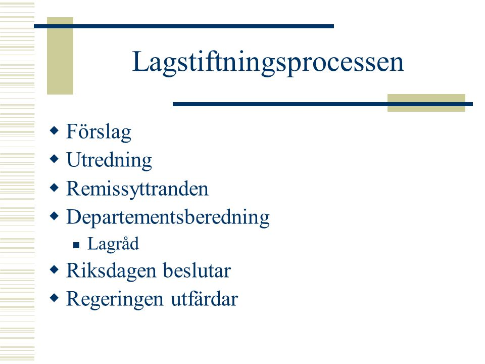 Lagstiftningsprocessen