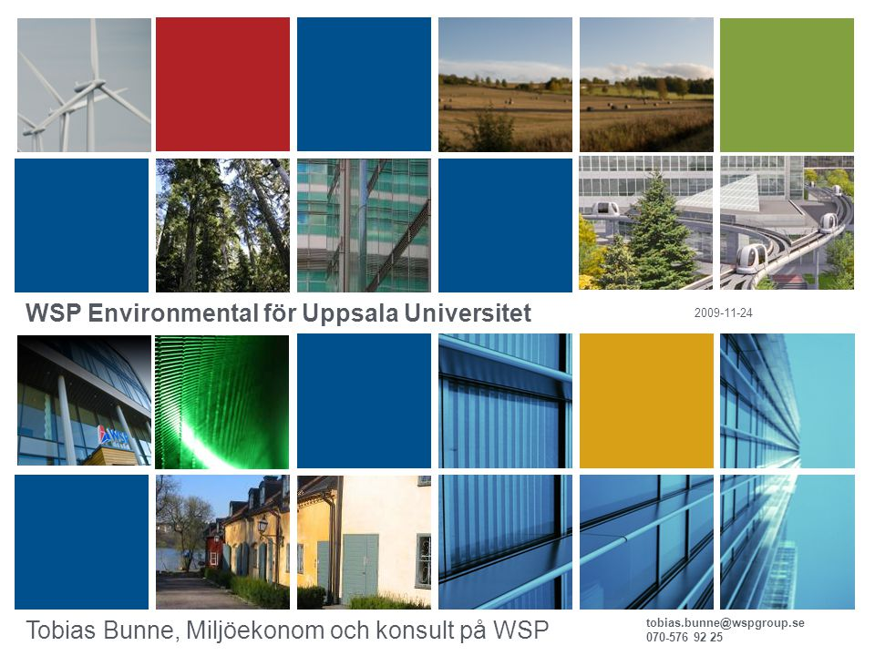 WSP Environmental för Uppsala Universitet