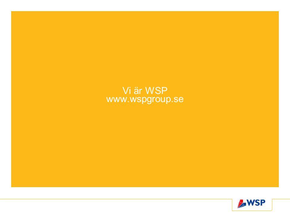 Vi är WSP www.wspgroup.se
