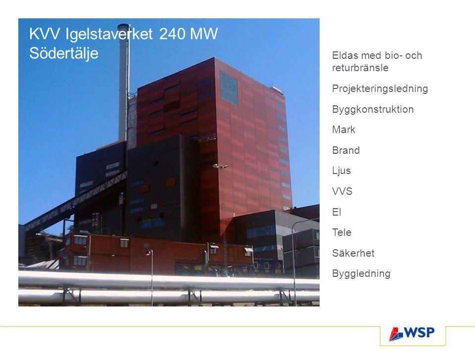 KVV Igelstaverket 240 MW Södertälje