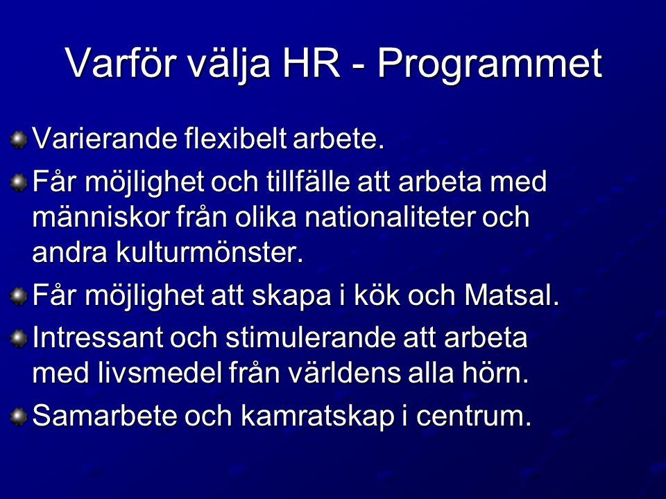 Varför välja HR - Programmet