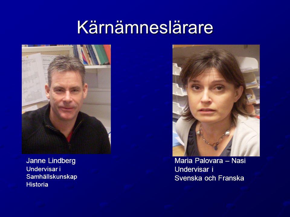 Kärnämneslärare Janne Lindberg Maria Palovara – Nasi Undervisar i