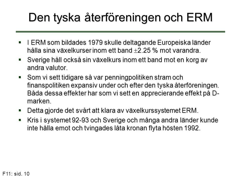 Den tyska återföreningen och ERM