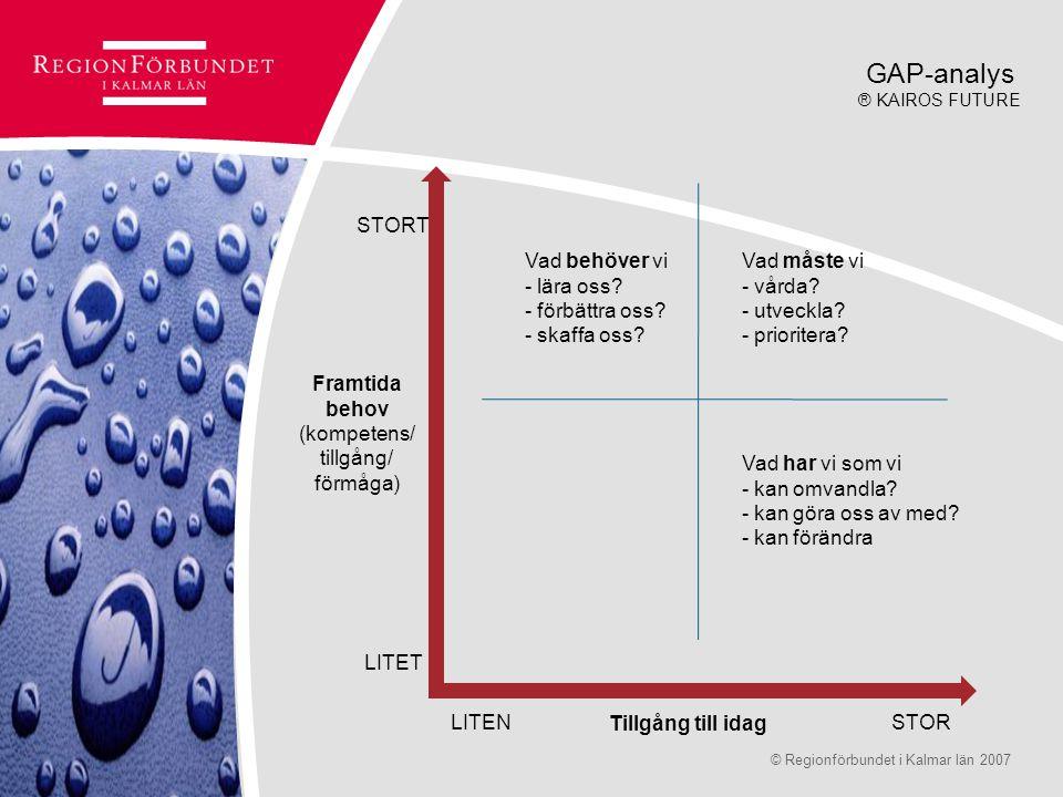 GAP-analys STORT Vad behöver vi - lära oss - förbättra oss