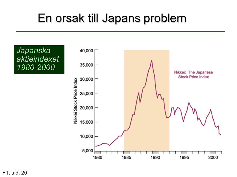 En orsak till Japans problem