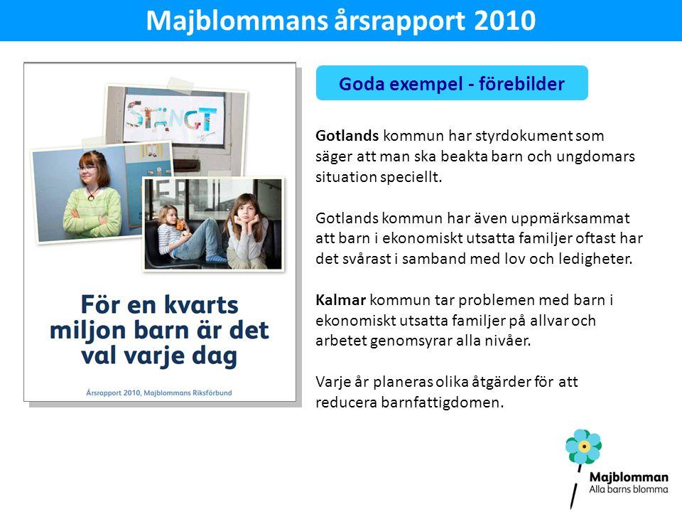 Majblommans årsrapport 2010 Goda exempel - förebilder