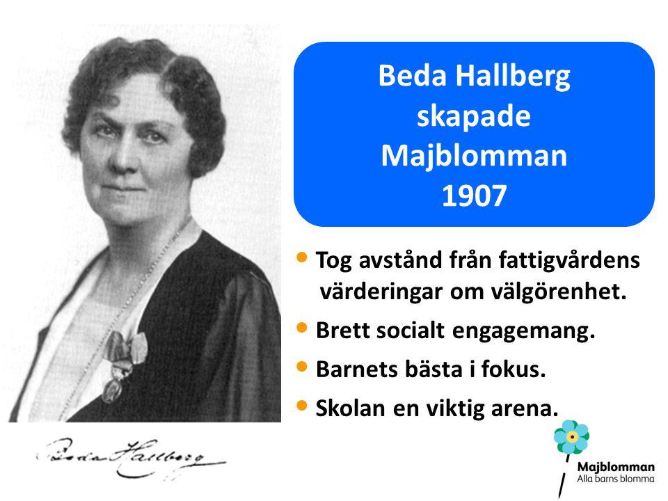 Beda Hallberg skapade Majblomman 1907