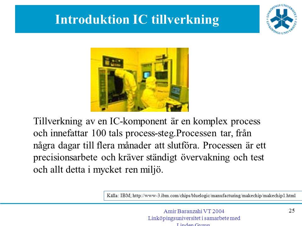 Introduktion IC tillverkning