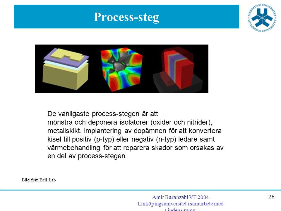 Process-steg De vanligaste process-stegen är att