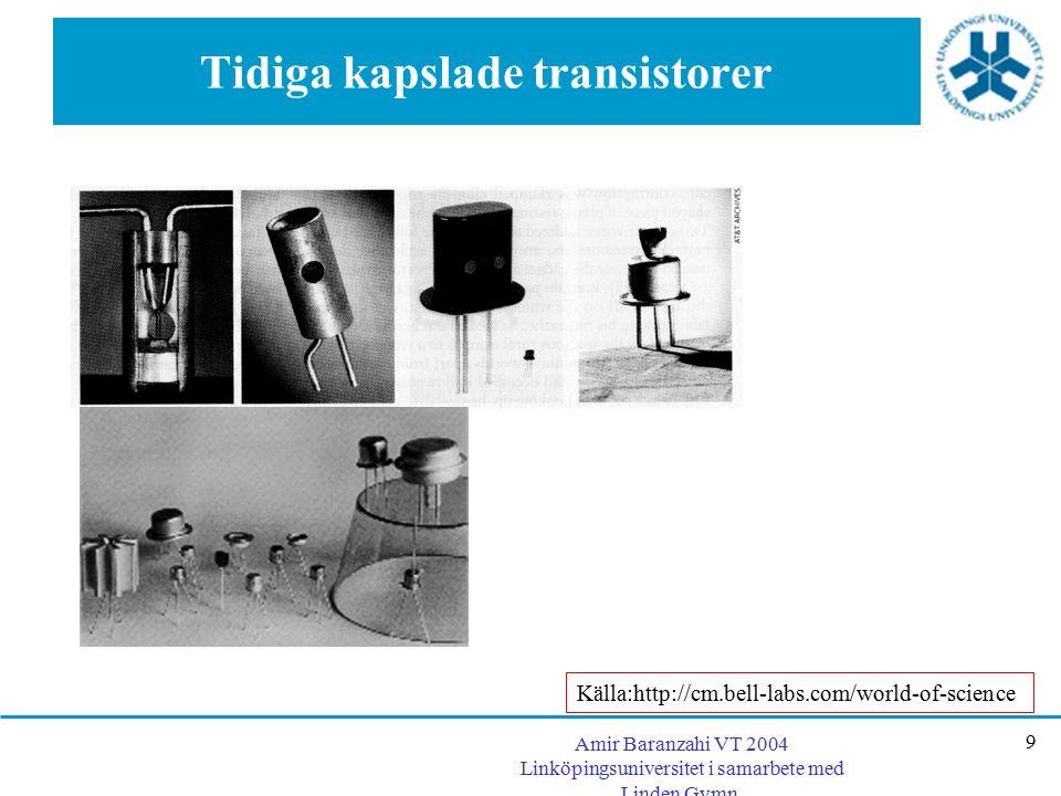 Tidiga kapslade transistorer