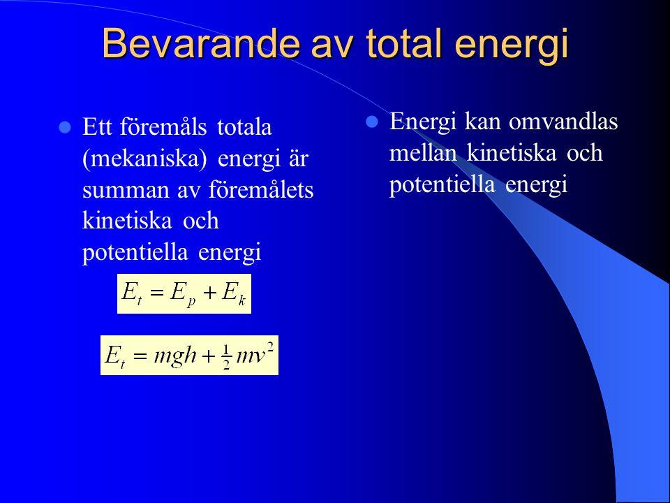 Bevarande av total energi