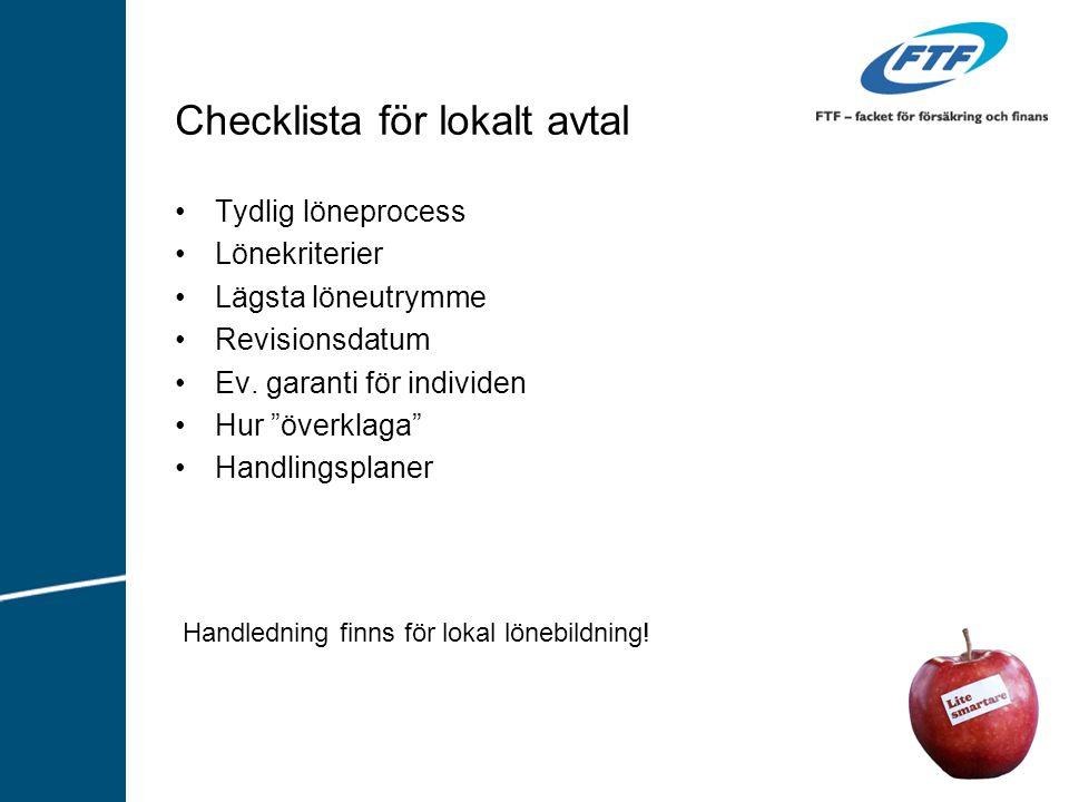 Checklista för lokalt avtal