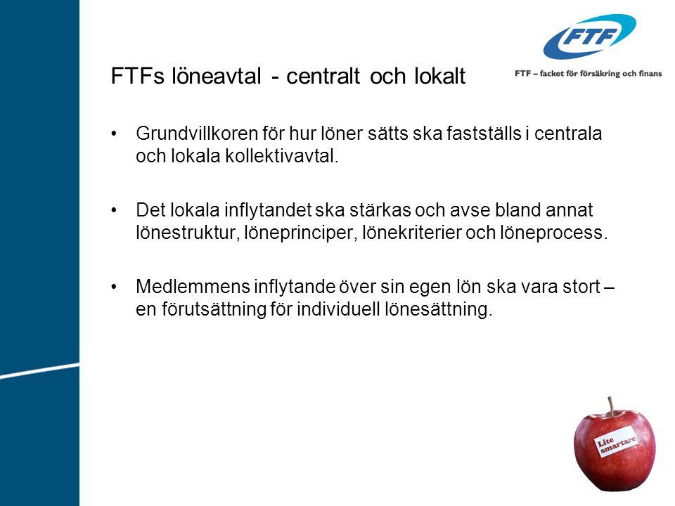 FTFs löneavtal - centralt och lokalt