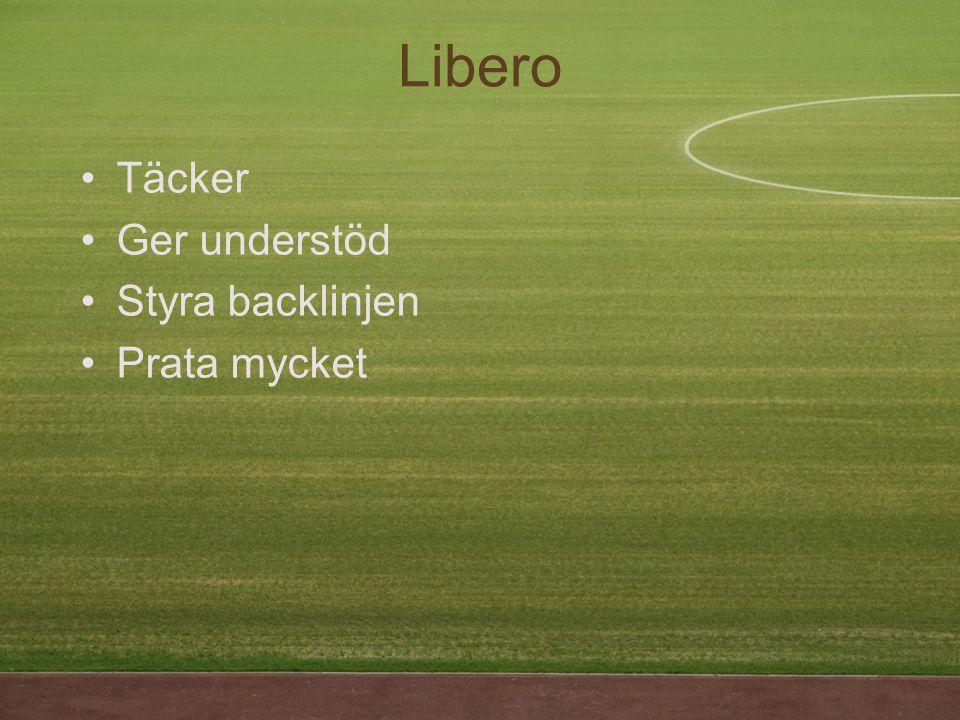 Libero Täcker Ger understöd Styra backlinjen Prata mycket