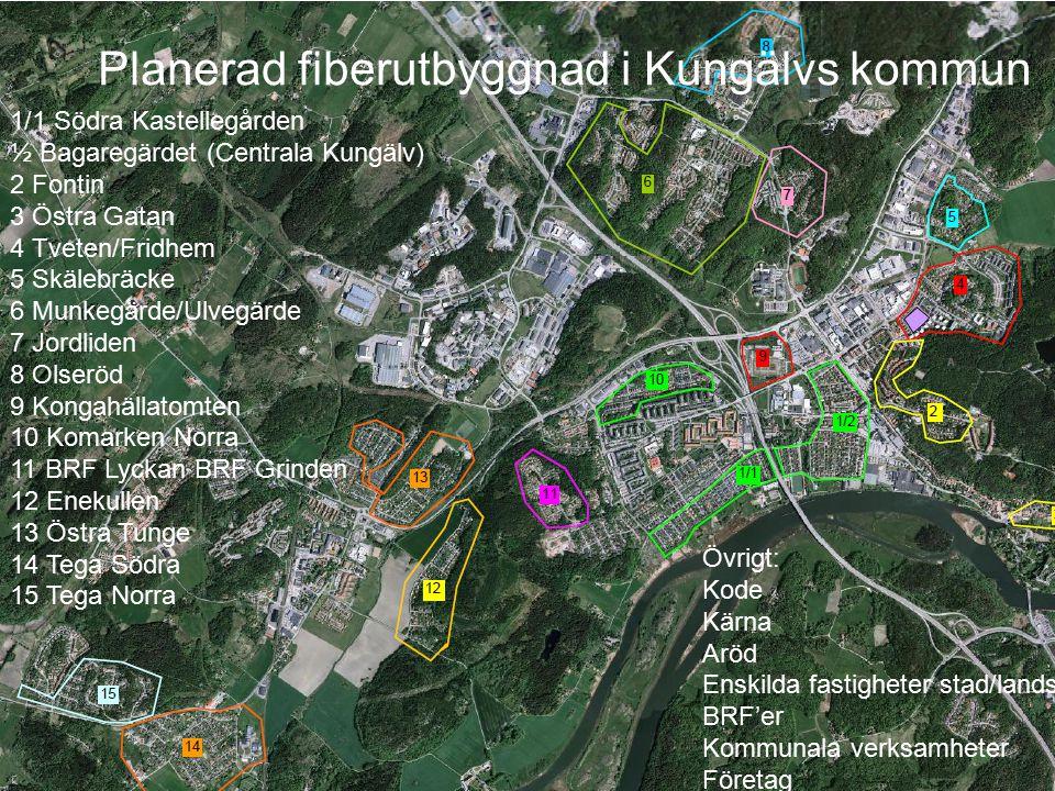 Planerad fiberutbyggnad i Kungälvs kommun
