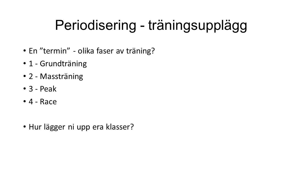 Periodisering - träningsupplägg