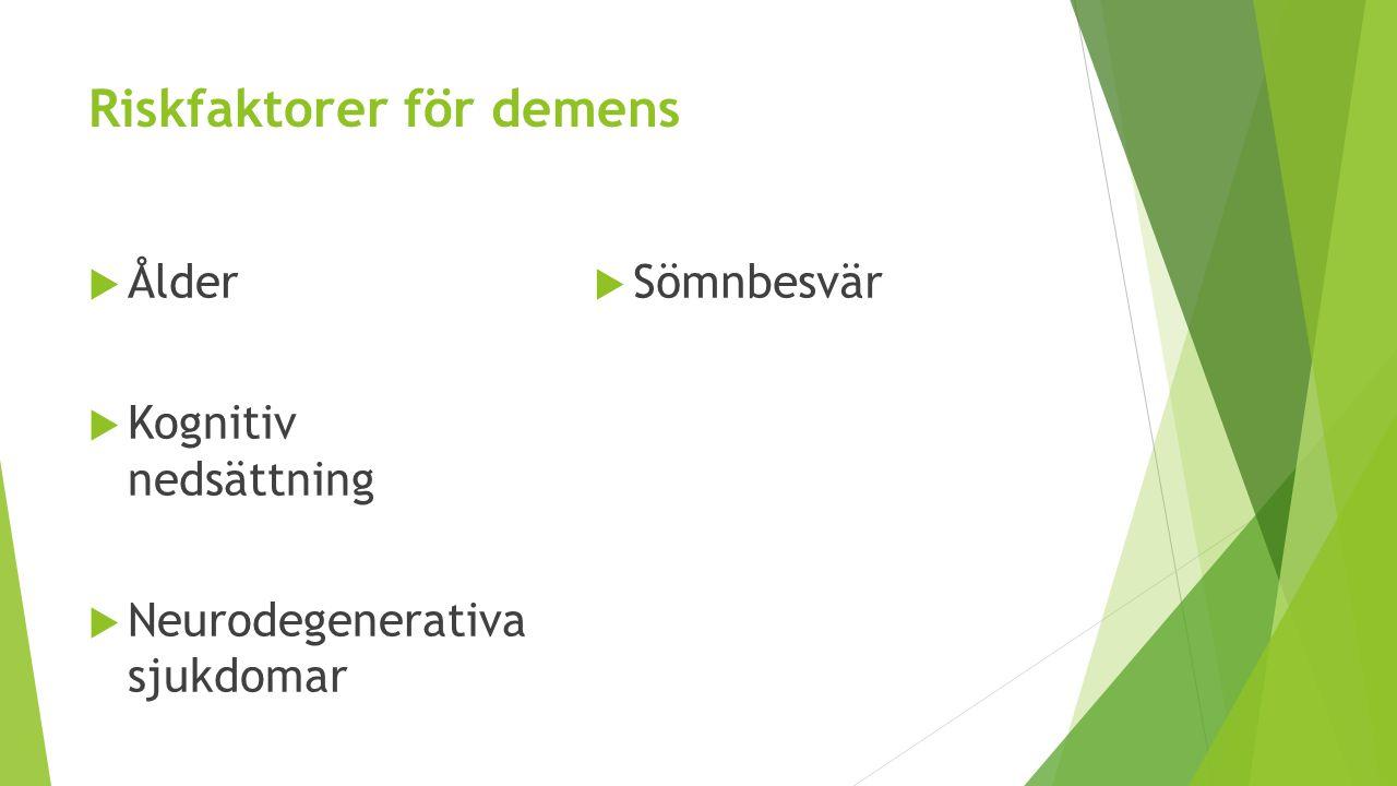 Riskfaktorer för demens