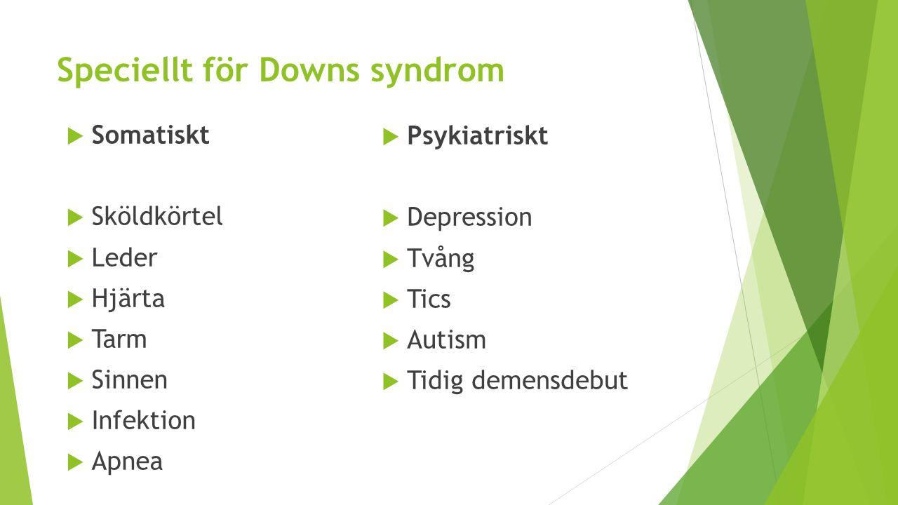 Speciellt för Downs syndrom