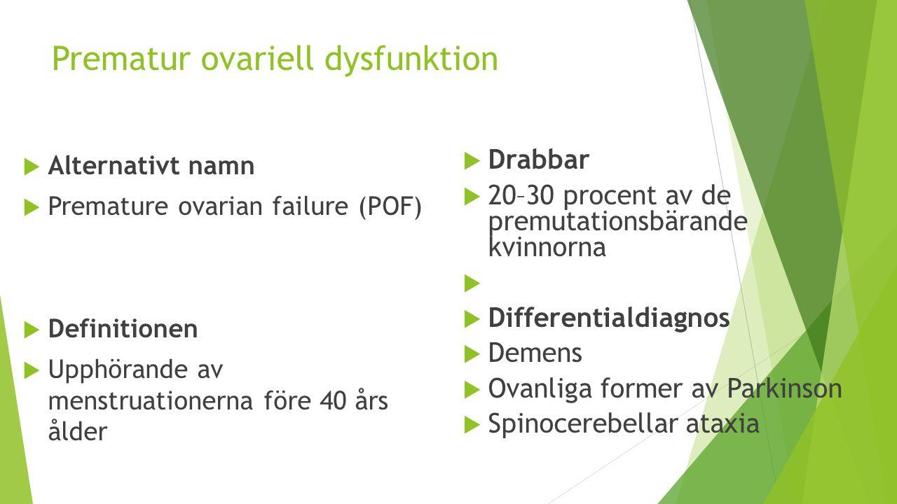 Prematur ovariell dysfunktion