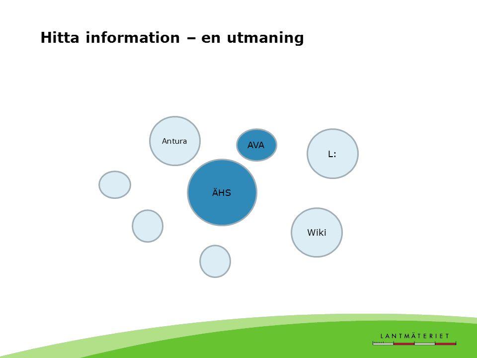 Hitta information – en utmaning