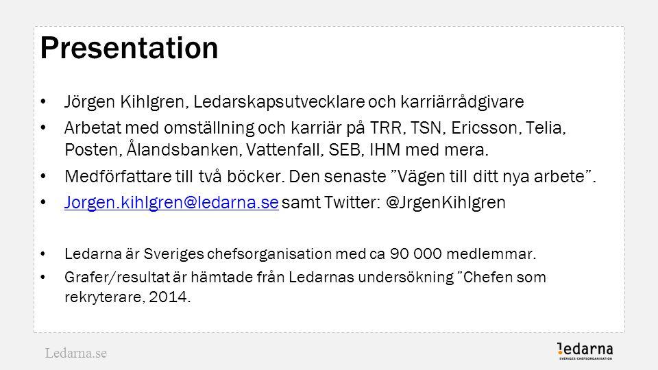 Presentation Jörgen Kihlgren, Ledarskapsutvecklare och karriärrådgivare.