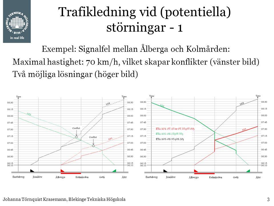 Trafikledning vid (potentiella) störningar - 1