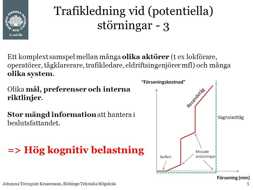 Trafikledning vid (potentiella) störningar - 3