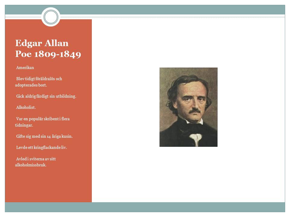Edgar Allan Poe 1809-1849 Amerikan