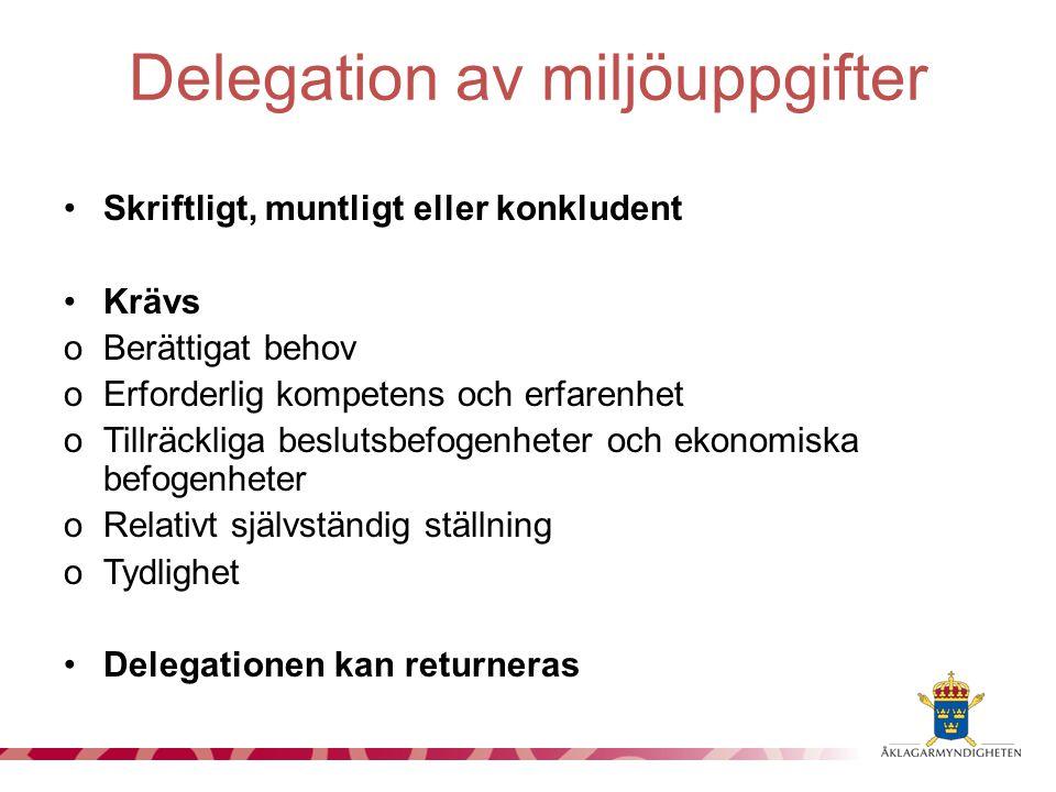 Delegation av miljöuppgifter
