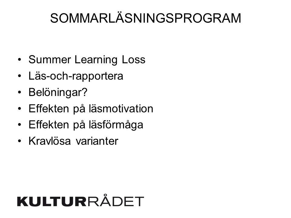 SOMMARLÄSNINGSPROGRAM