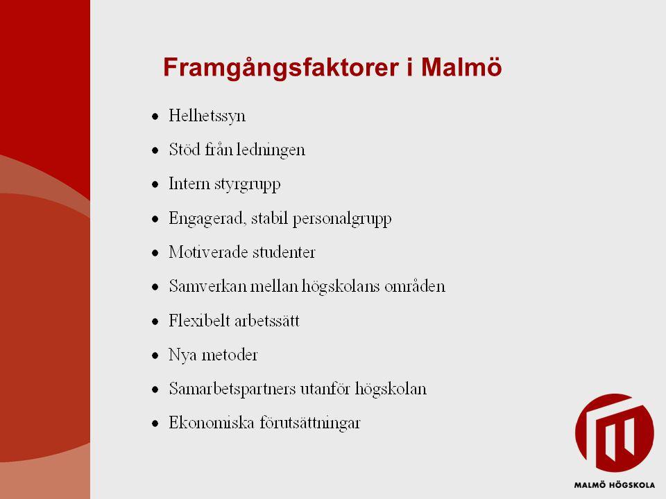 Framgångsfaktorer i Malmö