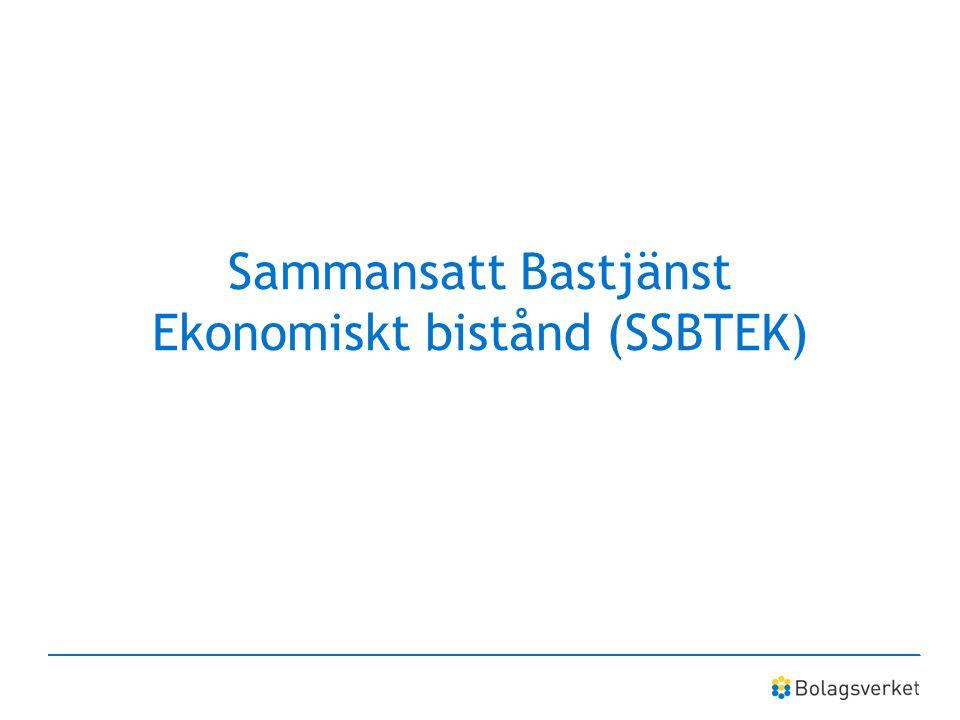 Sammansatt Bastjänst Ekonomiskt bistånd (SSBTEK)