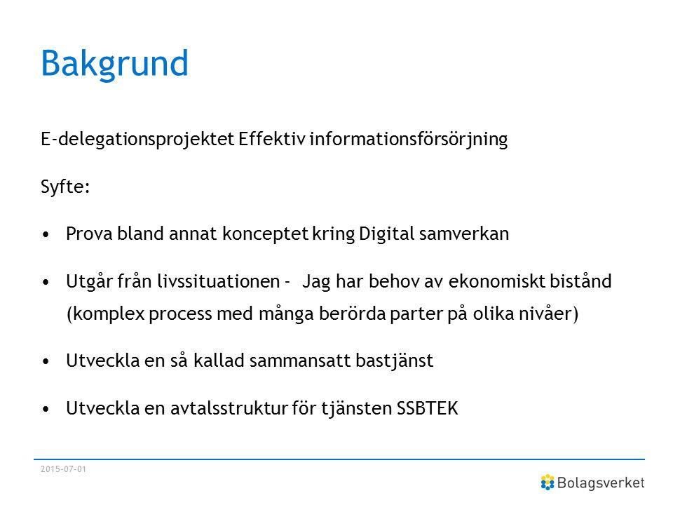 Bakgrund E-delegationsprojektet Effektiv informationsförsörjning