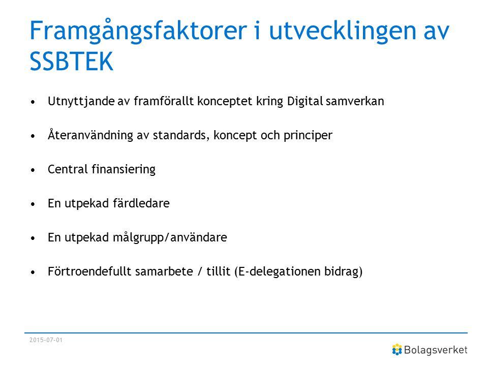 Framgångsfaktorer i utvecklingen av SSBTEK