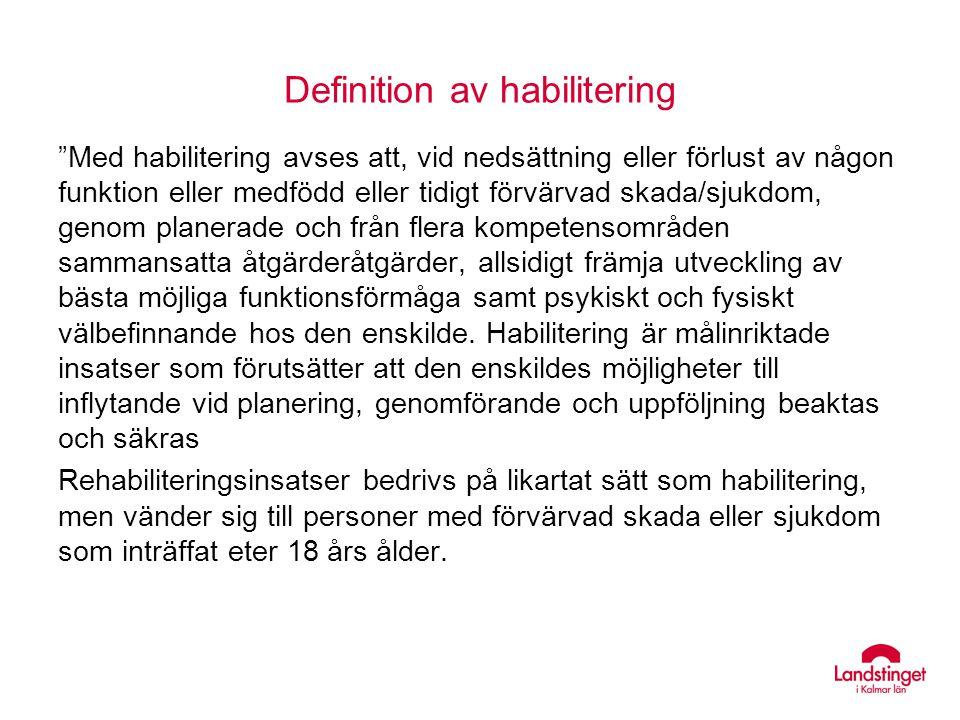 Definition av habilitering