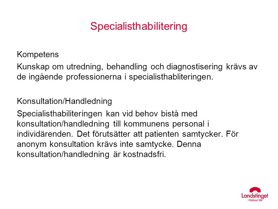 Specialisthabilitering