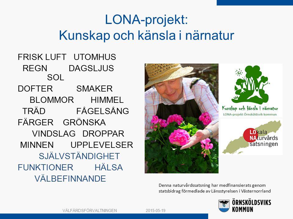 LONA-projekt: Kunskap och känsla i närnatur