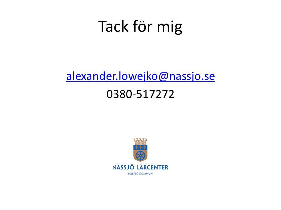 alexander.lowejko@nassjo.se 0380-517272