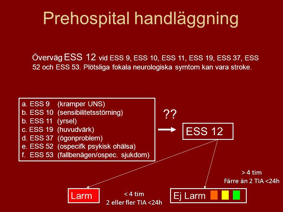 Prehospital handläggning