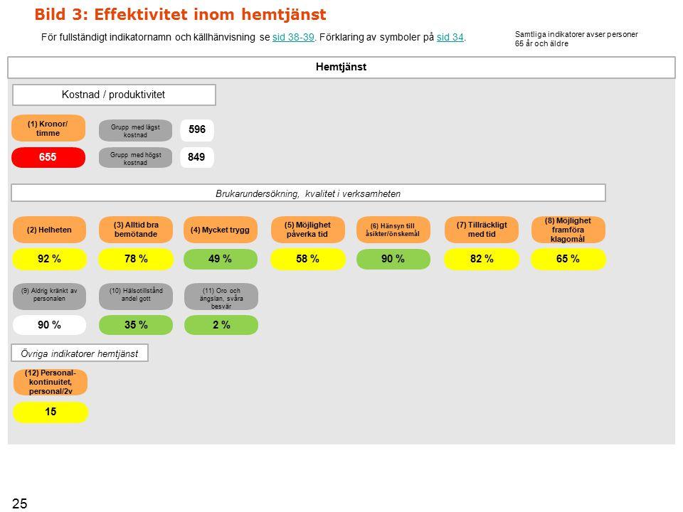 Bild 3: Effektivitet inom hemtjänst