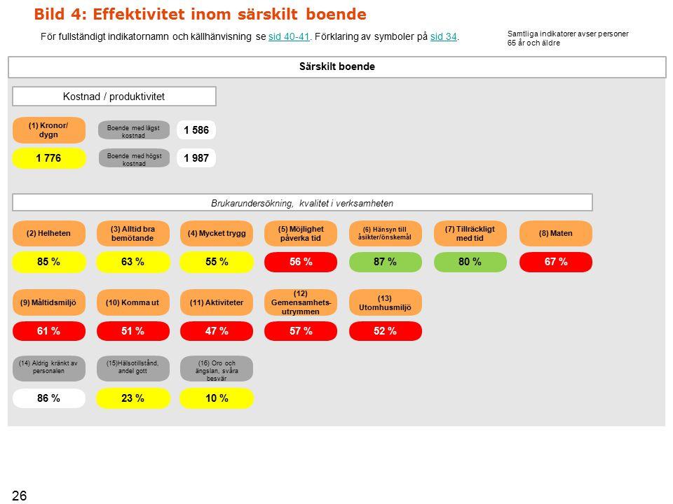Bild 4: Effektivitet inom särskilt boende