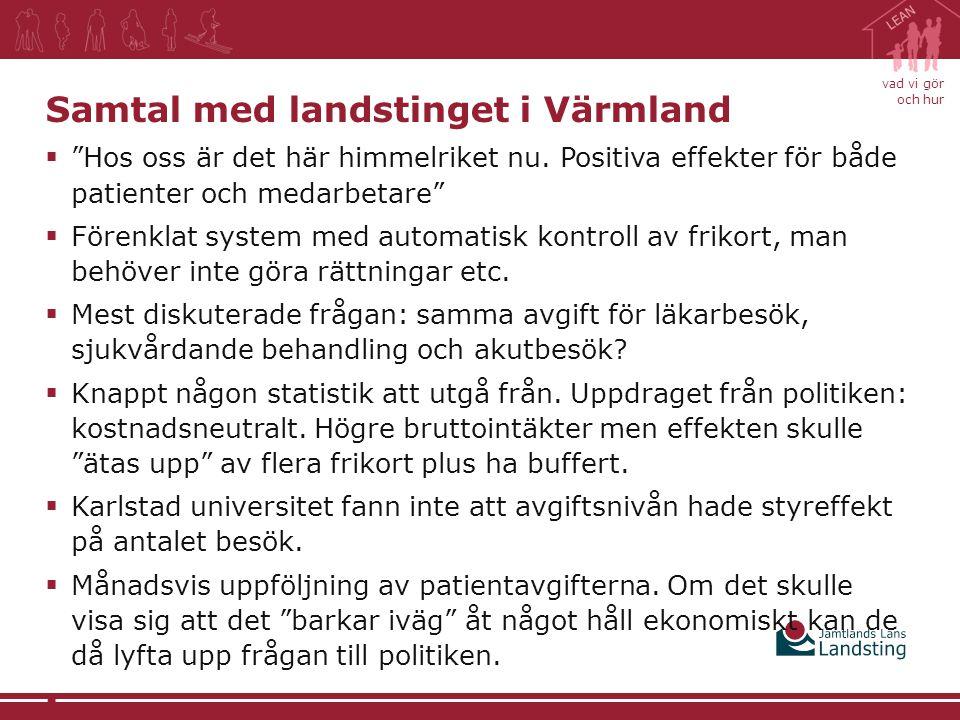 Samtal med landstinget i Värmland