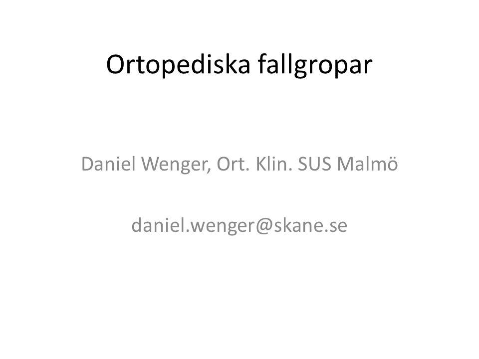 Ortopediska fallgropar