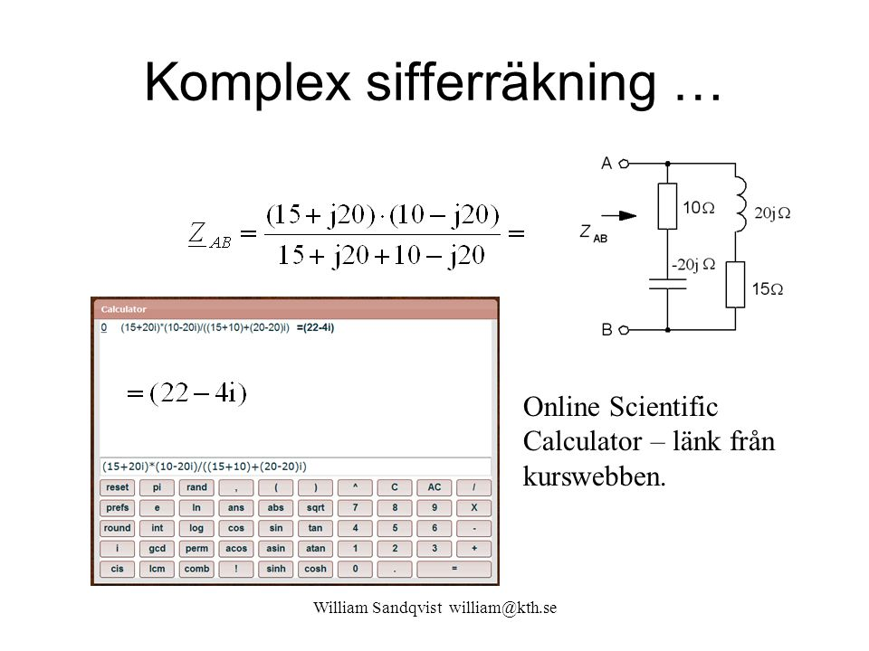 Komplex sifferräkning …