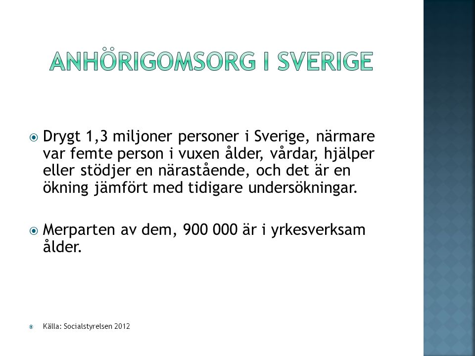 Anhörigomsorg i Sverige