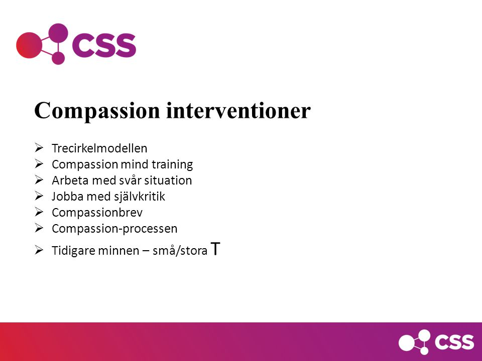 Compassion interventioner