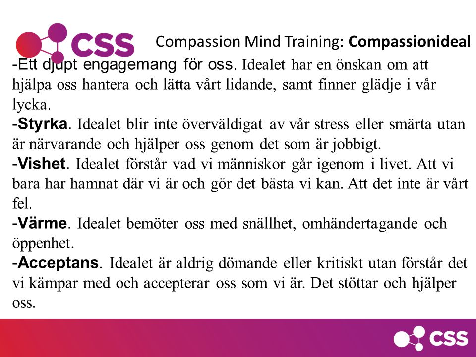 Compassion Mind Training: Compassionideal
