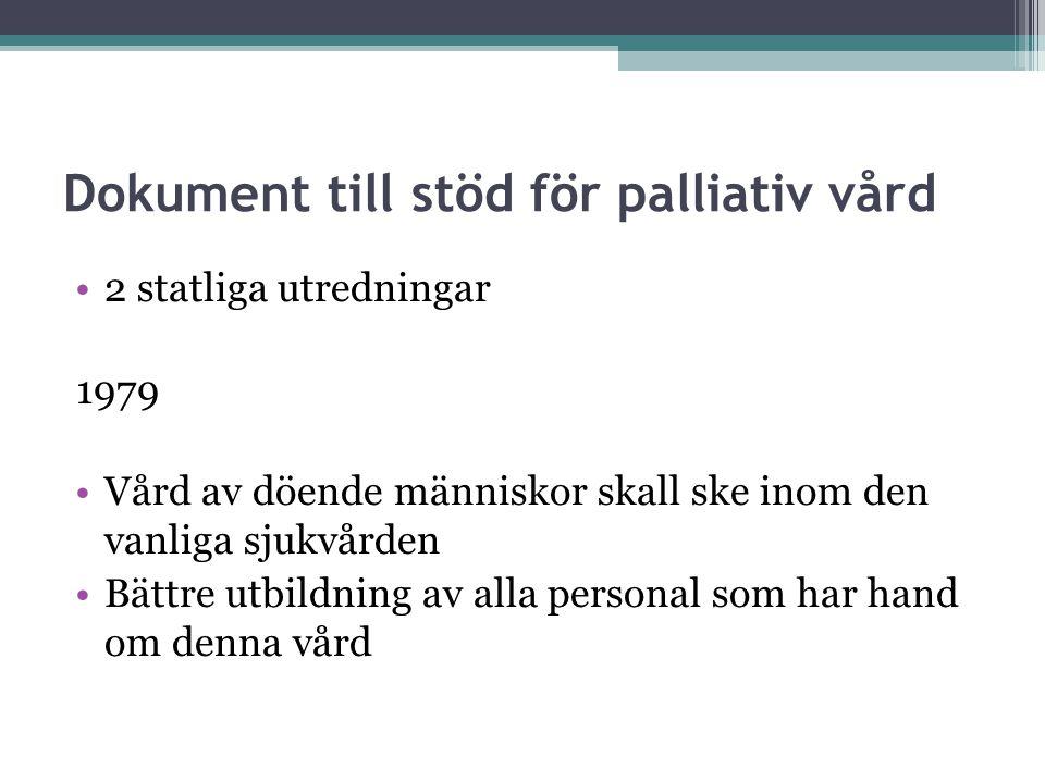 Dokument till stöd för palliativ vård