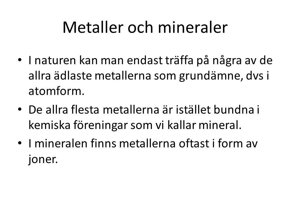 Metaller och mineraler